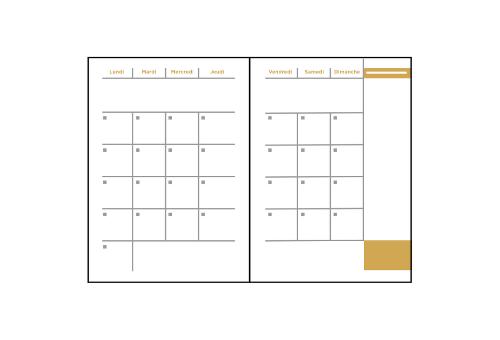Agendas mensuels