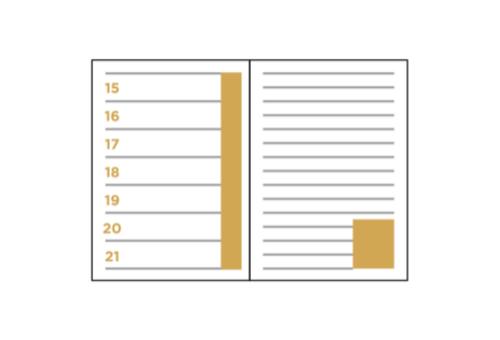 Terminkalender mit Notizen
