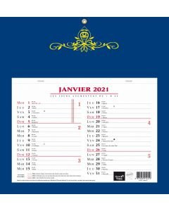Kalender 12 Monate Skytos Französisch