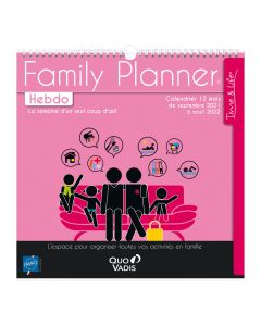 Calendriers Hebdomadaire Family Planner