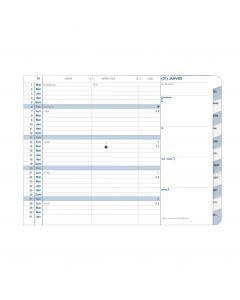 Einlagen für Terminkalender Monatlich Einlagen Französisch