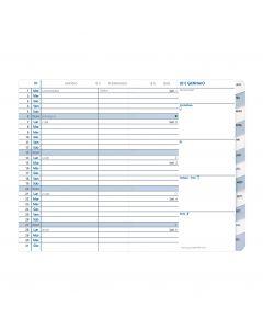 Einlagen für Terminkalender Monatlich Einlagen Italienisch