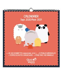 Calendars Monthly Kawaii French