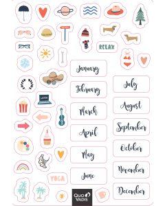 Sticker Permanente Adesivi di Agenda